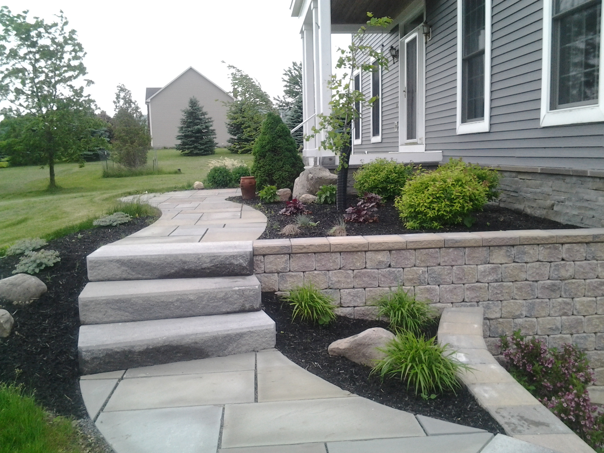 GrassMasters Landscaping Walkway Project
