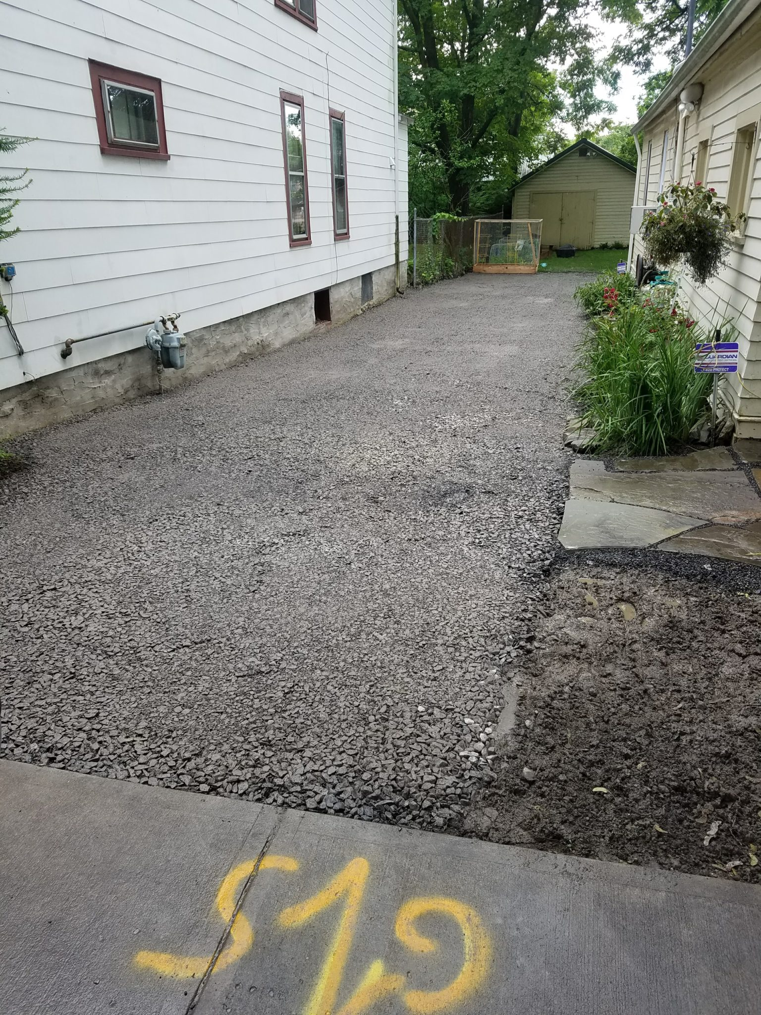 GrassMasters Landscaping Driveway Work Project