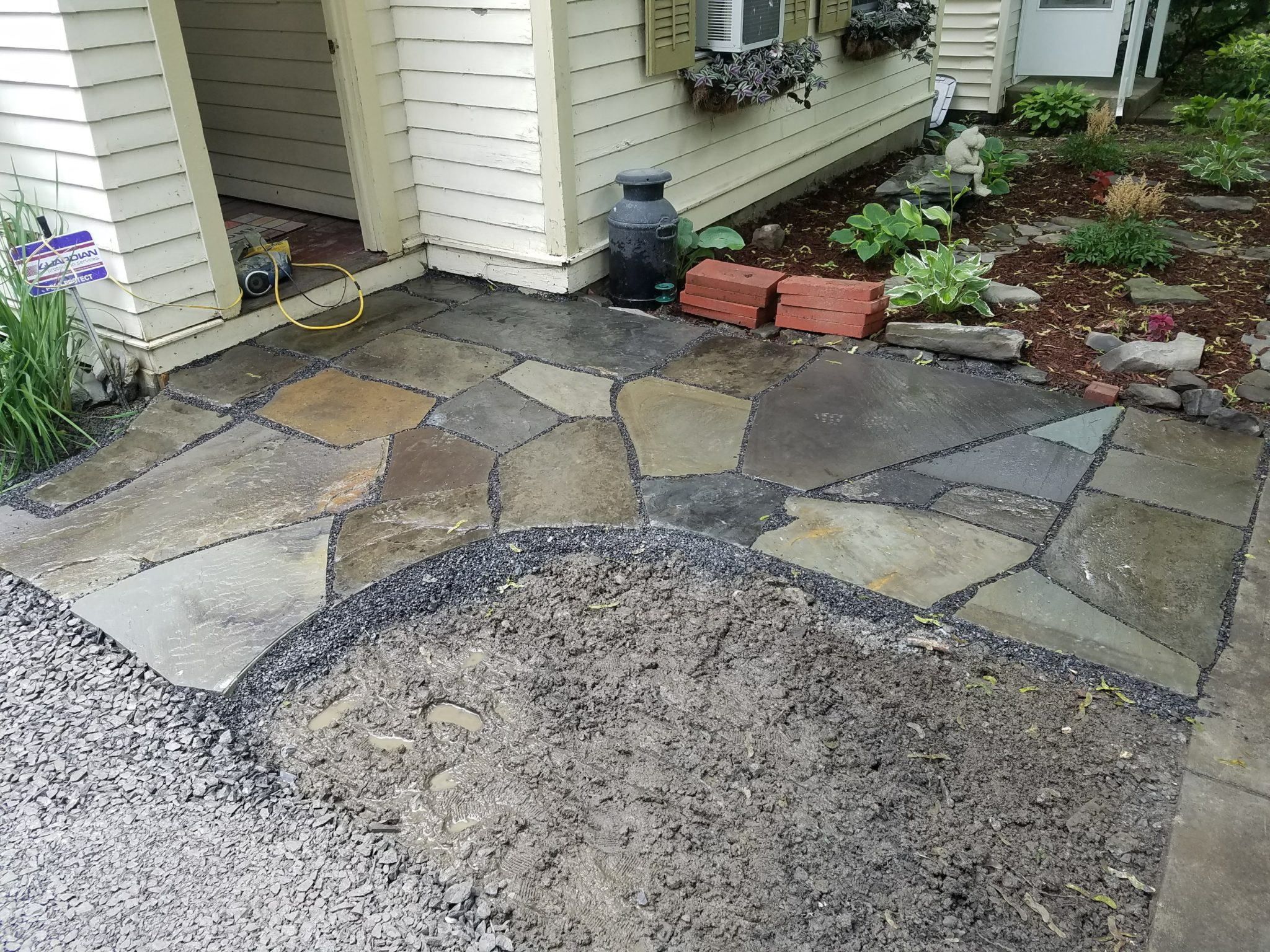 GrassMasters Landscaping Walkway Work Project