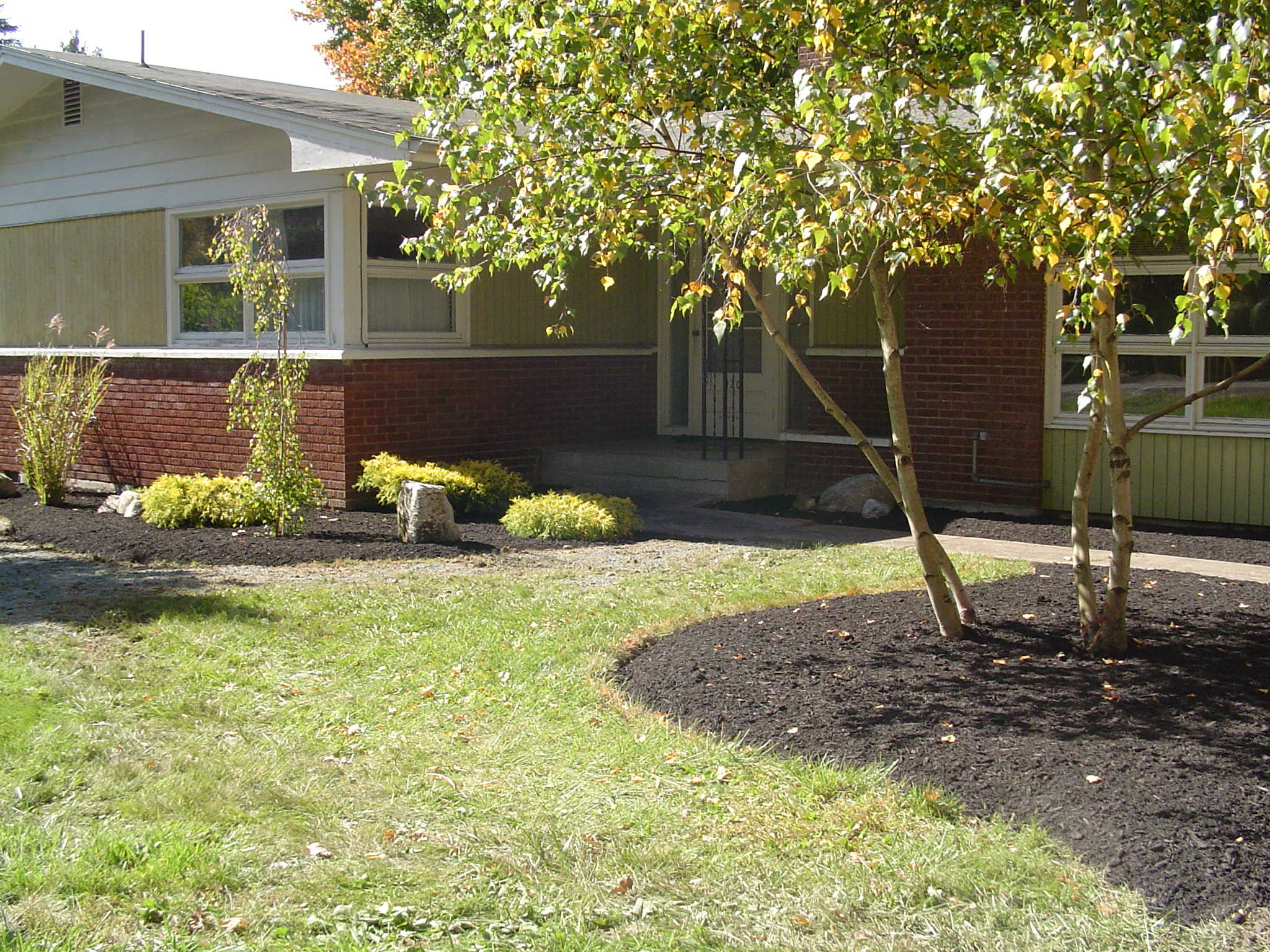 Grassmasters Landscaping Mulching Project 2