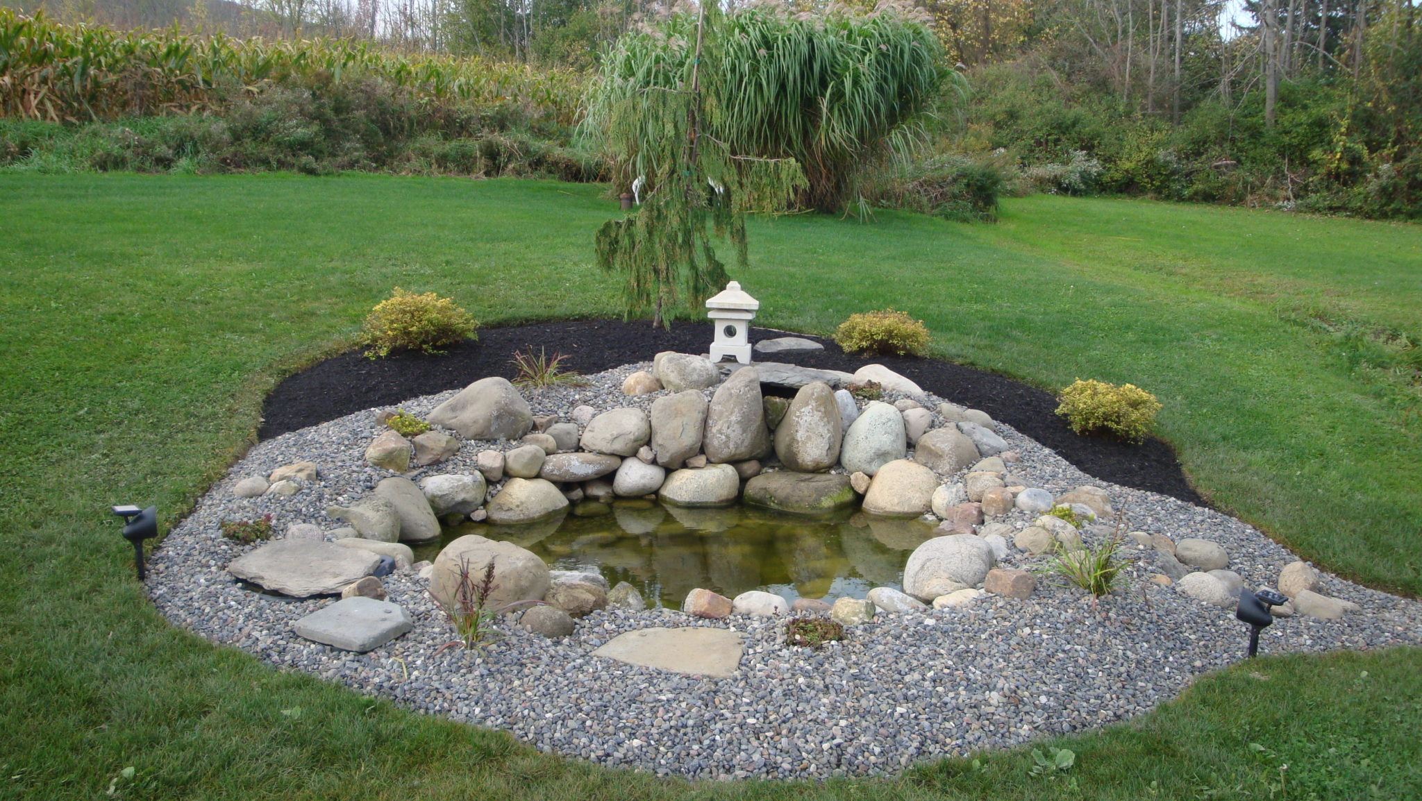 Grassmasters Landscaping Pond Project 2