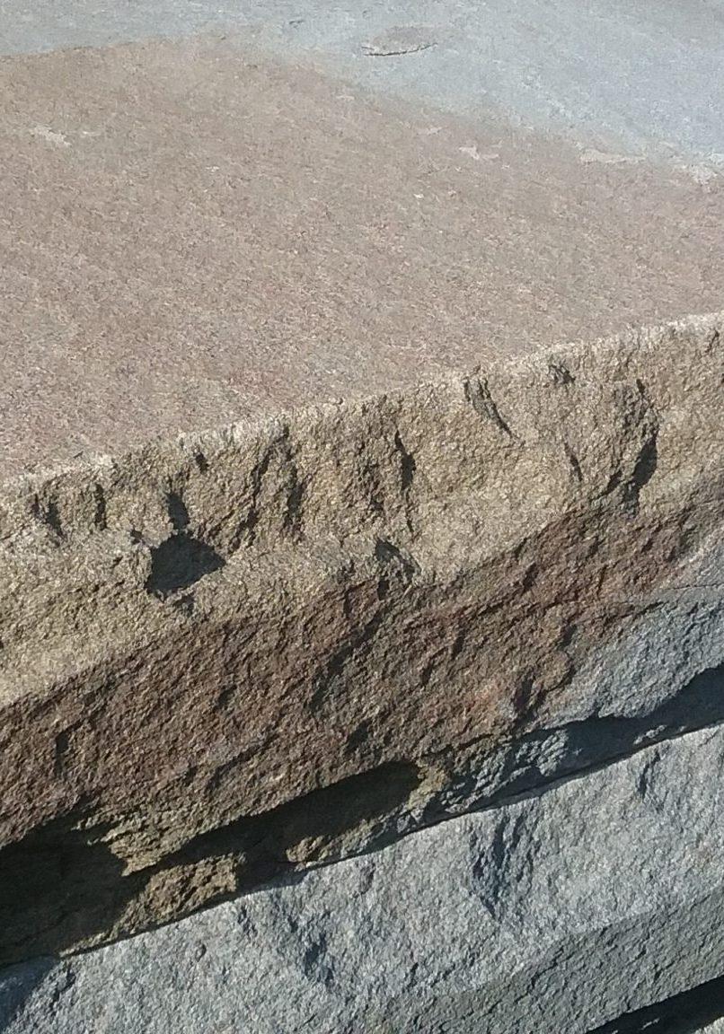 Rock Faced Steps At GrassMasters Landscaping